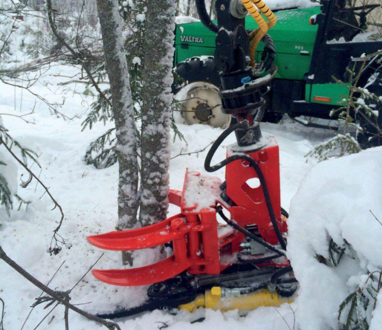 Fällgreifer K24 in Betrieb im Winter