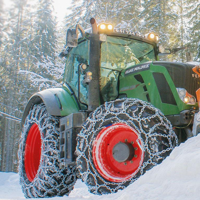 Hochwertige Schneeketten für Traktoren   SOMA
