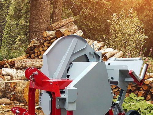 Wippkreissäge für die Forstarbeit